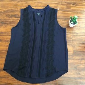 Ann Taylor sleeveless too with embroidered design